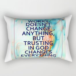 Trusting in God Changes Everything Rectangular Pillow