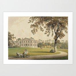 Francis Nicholson, O.W.S. VIEW OF WIGANTHORPE HALL, YORKSHIRE Art Print