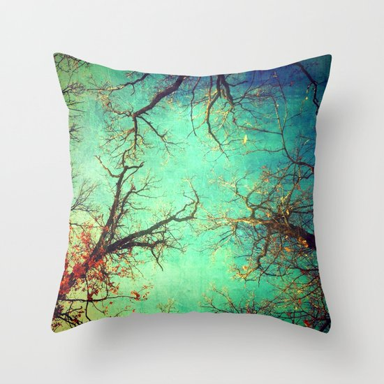 Dance of the trees Throw Pillow