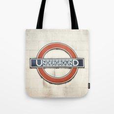 Underground - London Metro Photography Tote Bag