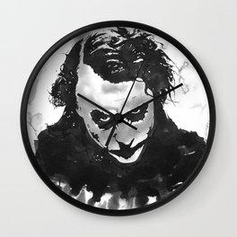 The joker in B&W Wall Clock