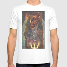 Ghost In the Shell MEDIUM Mens Fitted Tee White