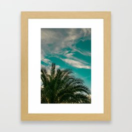 Palms on Turquoise - II Framed Art Print