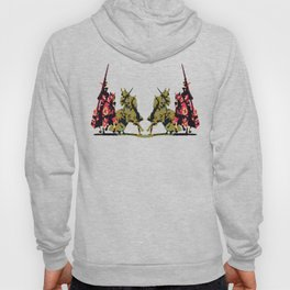 medieval knights with sword and lance Hoody
