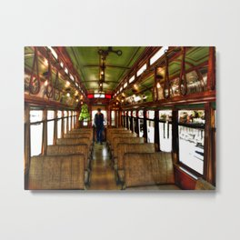 Trolley Train Metal Print