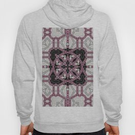 Layered Pink Tiled Pattern Hoody