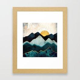 Glacial Hills Gerahmter Kunstdruck