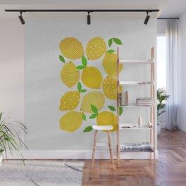 Lemon Crowd Wall Mural