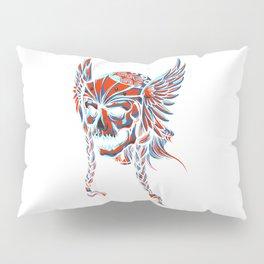 Death Flying Skull Pillow Sham