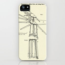 Improvement in Clothes Driers and Ironing Boards-1878 iPhone Case