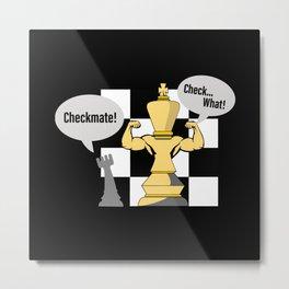 Chess, Chess Chessmen, Chess King Metal Print