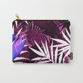 Bold Pink Tropical Paradise Design Carry-All Pouch