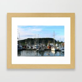 La Push Marina Framed Art Print