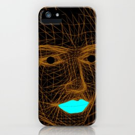 Man and lips iPhone Case