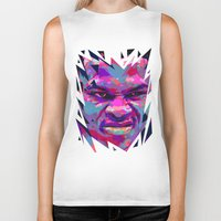 nba Biker Tanks featuring RUSSELL WESTBROOK: NBA ILLUSTRATION V2 by mergedvisible