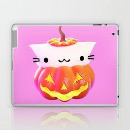 Pumpkin Cat Laptop & iPad Skin