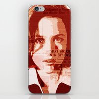 scully iPhone & iPod Skins featuring Dana Scully by Laura