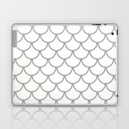Grey Fish Scales Pattern Laptop & iPad Skin