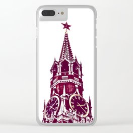 Kremlin Chimes-red Clear iPhone Case