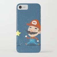 mario iPhone & iPod Cases featuring Mario by Rod Perich