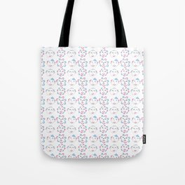 flower and face-flower,bloom,blossom,nature,funny,plants,nature,visage,face Tote Bag