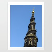 copenhagen Art Prints featuring Copenhagen by constarlation