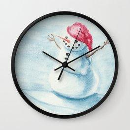 Snowman for Juli Wall Clock
