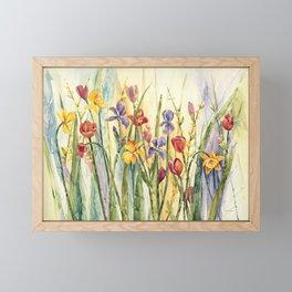 Spring Medley Flowers Framed Mini Art Print
