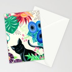 Natures Confetti Cat  Stationery Cards