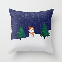 snowman Throw Pillows featuring Snowman ... by Mr and Mrs Quirynen