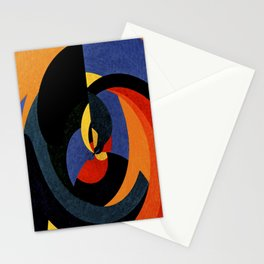 Abstract art in curved patterns Stationery Cards