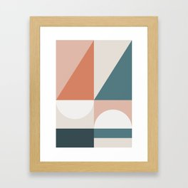Cirque 02 Abstract Geometric Framed Art Print