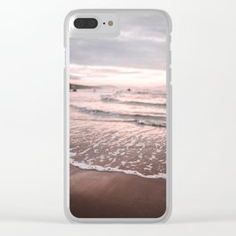 Beach at sunset Clear iPhone Case