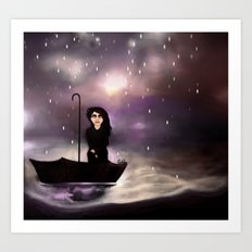 Floating through a coloured perfect world. Art Print