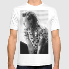 Harry Styles B&W White Mens Fitted Tee X-LARGE