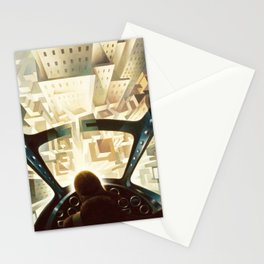 Nose Dive Into the City by T. Crali Stationery Cards