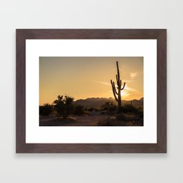 Saguaro Sunset Salute Framed Art Print