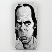 nick cave iPhone & iPod Skins featuring Nick Cave by Mr Shins