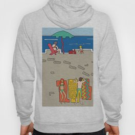 Afternoon at the beach (a) Hoody