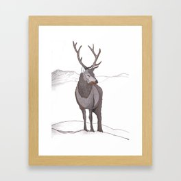 Mountain Stag Framed Art Print