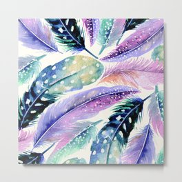 Wild Feathers #society6 #decor #buyart Metal Print