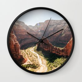 From the Mountains, Up Angel's Landing (Zion National Park, Utah) Wall Clock