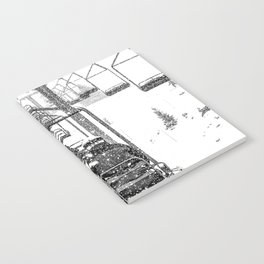 Snow Lift // Ski Chair Lift Colorado Mountains Black and White Snowboarding Vibes Photography Notebook