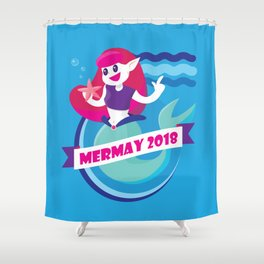 Cute Mermay Mermaid Art Challange Shower Curtain