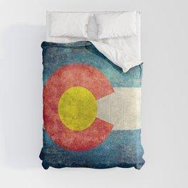 Colorado State flag, Vintage retro style Comforters
