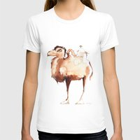camel T-shirts featuring Camel by CALZADA by Katrin Kadelke