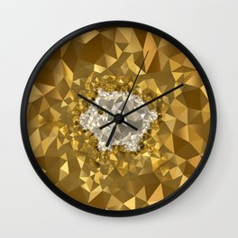 POLYNOID Piggy / Gold Edition Wall Clock