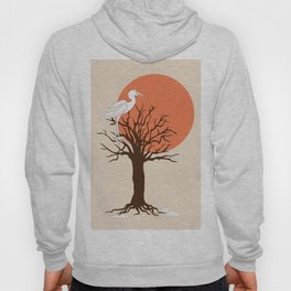heron sitting in the tree during sunset Hoody
