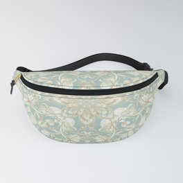 Soft Sage & Cream hand drawn floral pattern Fanny Pack