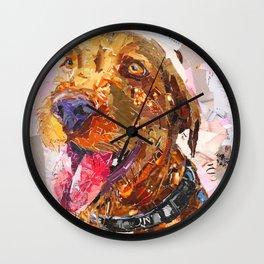 Rocco The Long Haired Vizsla Wall Clock
